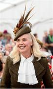 18 September 2019; Gillian Kelleher, from Millstreet, Cork, during the Etihad Airways' 'Best Dressed Country Style' competition at the National Ploughing Championship in Ballintrane, Fenagh, Co. Carlow. This year's prize includes two return economy flights from Dublin to Abu Dhabi, a two-night stay in the luxury Yas Hotel built over the F1 Grand Prix race track, a two-night stay in the prominent 5-Star Fairmont Bab Al Bahr and two complimentary 3-park passes for Yas Island. Photo by Stephen McCarthy/Sportsfile