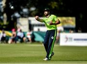 18 September 2019; Stuart Thompson of Ireland fielding during the T20 International Tri Series match between Ireland and Netherlands at Malahide Cricket Club in Dublin. Photo by Oliver McVeigh/Sportsfile