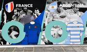 19 September 2019; Pool C opponents France and Argentina, are seen on an advertistment outside The International Stadium Yokohama ahead of the Rugby World Cup. The stadium will host 7 Rugby World Cup games, including the Final on 2nd November. Photo by Ramsey Cardy/Sportsfile