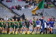 15 September 2019; Meath and Tipperary players march behind the Artane Band before the TG4 All-Ireland Ladies Football Intermediate Championship Final match between Meath andTipperary at Croke Park in Dublin. Photo by Piaras Ó Mídheach/Sportsfile