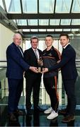 19 September 2019; PwC GAA/GPA Player of the Month for August, footballer Con O'Callaghan of Dublin, and September Player of the Month, footballer Sean O'Shea of Kerry, were at PwC offices in Dublin today to pick up their respective awards. The players were joined by PwC Managing Partner, Feargal O'Rourke, Uachtarán Chumann Lúthcleas, John Horan, and GPA Chief Executive, Paul Flynn. Pictured are, from left, Uachtarán Chumann Lúthchleas Gael John Horan, PwC Managing Partner, Feargal O'Rourke, Con O'Callaghan of Dublin and GPA Chief Executive, Paul Flynn in attendance at the event.  Photo by Sam Barnes/Sportsfile