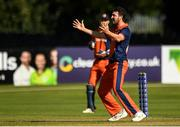 19 September 2019; Paul van Meekeren of Netherlands appeals to the Umpire during the T20 International Tri Series match between Scotland and Netherlands at Malahide Cricket Club in Dublin. Photo by Harry Murphy/Sportsfile