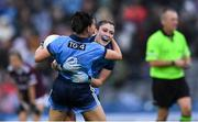15 September 2019; Dublin players Olwen Carey, right, and Siobhán McGrath celebrate after the TG4 All-Ireland Ladies Football Senior Championship Final match between Dublin and Galway at Croke Park in Dublin. Photo by Piaras Ó Mídheach/Sportsfile