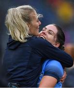 15 September 2019; Dublin players Nicole Owens, left, and Noëlle Healy celebrate after the TG4 All-Ireland Ladies Football Senior Championship Final match between Dublin and Galway at Croke Park in Dublin. Photo by Piaras Ó Mídheach/Sportsfile