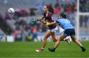 15 September 2019; Olivia Divilly of Galway in action against Niamh Collins of Dublin during the TG4 All-Ireland Ladies Football Senior Championship Final match between Dublin and Galway at Croke Park in Dublin. Photo by Piaras Ó Mídheach/Sportsfile