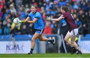15 September 2019; Jennifer Dunne of Dublin in action against Louise Ward of Galway during the TG4 All-Ireland Ladies Football Senior Championship Final match between Dublin and Galway at Croke Park in Dublin. Photo by Piaras Ó Mídheach/Sportsfile