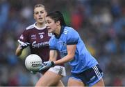 15 September 2019; Olwen Carey of Dublin in action against Áine McDonagh of Galway during the TG4 All-Ireland Ladies Football Senior Championship Final match between Dublin and Galway at Croke Park in Dublin. Photo by Piaras Ó Mídheach/Sportsfile
