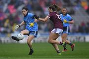 15 September 2019; Lyndsey Davey of Dublin in action against Mairéad Seoighe of Galway during the TG4 All-Ireland Ladies Football Senior Championship Final match between Dublin and Galway at Croke Park in Dublin. Photo by Piaras Ó Mídheach/Sportsfile
