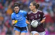 15 September 2019; Sinéad Burke of Galway in action against Lyndsey Davey of Dublin during the TG4 All-Ireland Ladies Football Senior Championship Final match between Dublin and Galway at Croke Park in Dublin. Photo by Piaras Ó Mídheach/Sportsfile