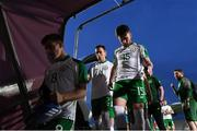 6 June 2019; Aaron Connolly, 15, and Lee O'Connor, 2, of Republic of Ireland leave the pitch following the 2019 Maurice Revello Toulon Tournament match between Mexico and Republic of Ireland at Parsemain in Fos-sur-Mer, France. Photo by Alexandre Dimou/Sportsfile