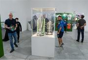 19 September 2019; Attendees look on at exhibts during the National Football Exhibition launch at the Regional Cultural Centre in Letterkenny, Donegal. Photo by Oliver McVeigh/Sportsfile