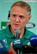 20 September 2019; Ireland head coach Joe Schmidt during the Ireland Rugby squad announcement, ahead of their opening Pool A game against Scotland, at the Yokohama Bay Sheraton Hotel and Towers in Yokohama, Japan. Photo by Brendan Moran/Sportsfile