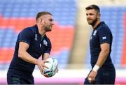 20 September 2019; Finn Russell during the Scotland captain's run ahead of their opening Pool A game against Ireland at the International Stadium in Yokohama, Japan.  Photo by Ramsey Cardy/Sportsfile