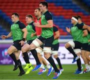 20 September 2019; James Ryan during the Ireland captain's run ahead of their opening Pool A game against Scotland at the International Stadium in Yokohama, Japan. Photo by Ramsey Cardy/Sportsfile