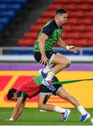 20 September 2019; Jonathan Sexton, above, and Joey Carbery during the Ireland captain's run ahead of their opening Pool A game against Scotland at the International Stadium in Yokohama, Japan. Photo by Ramsey Cardy/Sportsfile