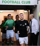 20 September 2019; Jack Byrne of Shamrock Rovers prior to the SSE Airtricity League Premier Division match between Shamrock Rovers and St Patrick's Athletic at Tallaght Stadium in Tallaght, Dublin. Photo by Stephen McCarthy/Sportsfile