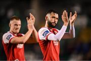 20 September 2019; David Webster, right, and Ciaran Kelly of St Patrick's Athletic following the SSE Airtricity League Premier Division match between Shamrock Rovers and St Patrick's Athletic at Tallaght Stadium in Tallaght, Dublin. Photo by Stephen McCarthy/Sportsfile