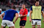 20 September 2019; Russia forwards coach Mark McDermott during the 2019 Rugby World Cup Pool A match between Japan and Russia at the Tokyo Stadium in Chofu, Japan. Photo by Brendan Moran/Sportsfile