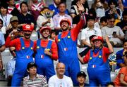 21 September 2019; France supporters prior to the 2019 Rugby World Cup Pool C match between France and Argentina at the Tokyo Stadium in Chofu, Japan. Photo by Brendan Moran/Sportsfile
