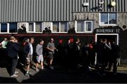 21 September 2019; Bohemians supporters queue outside Dalymount Park, in Dublin, to purchase tickets for their upcoming Extra.ie FAI Cup semi-final match against Shamrock Rovers, which takes place on Friday, September 27th. Photo by Stephen McCarthy/Sportsfile