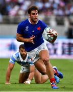 21 September 2019; Damian Penaud of France during the 2019 Rugby World Cup Pool C match between France and Argentina at the Tokyo Stadium in Chofu, Japan. Photo by Brendan Moran/Sportsfile