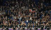 21 September 2019; The New Zealand team are applauded by supporters following the 2019 Rugby World Cup Pool B match between New Zealand and South Africa at the International Stadium in Yokohama, Japan. Photo by Ramsey Cardy/Sportsfile