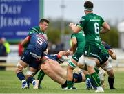 21 September 2019; Nick McCarthy of Munster is tackled by Tom Farrell of Connacht during the Pre-Season Friendly match between Connacht and Munster at The Galway Sportsground in Galway. Photo by Harry Murphy/Sportsfile