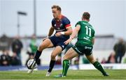 21 September 2019; Mike Haley of Munster in action against Matt Healy of Connacht during the Pre-Season Friendly match between Connacht and Munster at The Galway Sportsground in Galway. Photo by Harry Murphy/Sportsfile