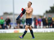 21 September 2019; Nick McCarthy of Munster puts his jersey back on during the Pre-Season Friendly match between Connacht and Munster at The Galway Sportsground in Galway. Photo by Harry Murphy/Sportsfile