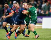 21 September 2019; Caolin Blade of Connacht in action against Jeremy Loughman of Munster during the Pre-Season Friendly match between Connacht and Munster at The Galway Sportsground in Galway. Photo by Harry Murphy/Sportsfile