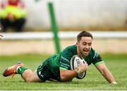 21 September 2019; Caolin Blade of Connacht goes over to score his side's third try during the Pre-Season Friendly match between Connacht and Munster at The Galway Sportsground in Galway. Photo by Harry Murphy/Sportsfile