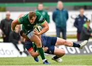 21 September 2019; Peter Robb of Connacht is tackled by  Rory Scannell of Munster during the Pre-Season Friendly match between Connacht and Munster at The Galway Sportsground in Galway. Photo by Harry Murphy/Sportsfile