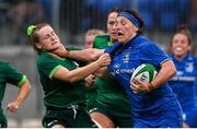 21 September 2019; Lindsay Peat of Leinster is tackled by Meabh Deely of Connacht during the Women's Interprovincial Championship Final match between Leinster and Connacht at Energia Park in Donnybrook, Dublin. Photo by Eóin Noonan/Sportsfile