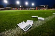 21 September 2019; Betting slips are seen on the pitch during the SSE Airtricity League First Division match between Shelbourne and Limerick FC at Tolka Park in Dublin. Photo by Stephen McCarthy/Sportsfile