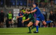 21 September 2019; Aoibheann Reilly of Connacht in action against Lindsay Peat of Leinster during the Women's Interprovincial Championship Final match between Leinster and Connacht at Energia Park in Donnybrook, Dublin. Photo by Eóin Noonan/Sportsfile