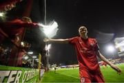 21 September 2019; Shane Farrell of Shelbourne celebrates after scoring his side's third goal during the SSE Airtricity League First Division match between Shelbourne and Limerick FC at Tolka Park in Dublin. Photo by Stephen McCarthy/Sportsfile