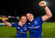 21 September 2019; Leinster vice captains Michelle Claffey, left, and Lindsay Peat following the Women's Interprovincial Championship Final match between Leinster and Connacht at Energia Park in Donnybrook, Dublin. Photo by Eóin Noonan/Sportsfile