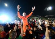 21 September 2019; Dean Delany of Shelbourne celebrates following the SSE Airtricity League First Division match between Shelbourne and Limerick FC at Tolka Park in Dublin. Photo by Stephen McCarthy/Sportsfile