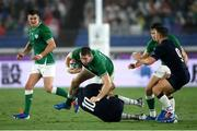 22 September 2019; Chris Farrell of Ireland is tackled by Finn Russell of Scotland during the 2019 Rugby World Cup Pool A match between Ireland and Scotland at the International Stadium in Yokohama, Japan. Photo by Ramsey Cardy/Sportsfile