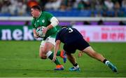 22 September 2019; Tadhg Furlong of Ireland in action against Willem Nel of Scotland during the 2019 Rugby World Cup Pool A match between Ireland and Scotland at the International Stadium in Yokohama, Japan. Photo by Brendan Moran/Sportsfile
