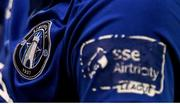 21 September 2019; A detailed view of the Limerick FC crest on their jersey during the SSE Airtricity League First Division match between Shelbourne and Limerick FC at Tolka Park in Dublin. Photo by Stephen McCarthy/Sportsfile