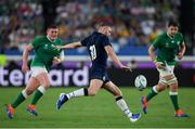 22 September 2019; Finn Russell of Scotland during the 2019 Rugby World Cup Pool A match between Ireland and Scotland at the International Stadium in Yokohama, Japan. Photo by Ramsey Cardy/Sportsfile