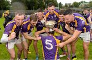 22 September 2019; Derrygonnelly Harps players celebrate with the cup after winning their fifth title in a row, after the Fermanagh County Senior Club Football Championship Final match between Derrygonnelly Harps and Roslea Shamrocks at Brewster Park in Enniskillen, Fermanagh. Photo by Oliver McVeigh/Sportsfile