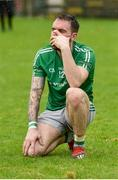 22 September 2019; A dejected Shane McMahon of Roslea Shamrocks after the Fermanagh County Senior Club Football Championship Final match between Derrygonnelly Harps and Roslea Shamrocks at Brewster Park in Enniskillen, Fermanagh. Photo by Oliver McVeigh/Sportsfile