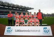24 September 2019; St Paul's, Co. Antrim,  players during the Littlewoods Ireland Ulster GAA Go Games Provincial Days' in Croke Park in Dublin. This year over 6,000 boys and girls aged between six and twelve represented their clubs in a series of mini blitzes and – just like their heroes – got to play in Croke Park.  Photo by Harry Murphy/Sportsfile