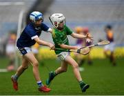 24 September 2019; Brian McClemons of Cuchullains, Co. Antrim, in action against Martin McKeown of St Galls GAC, Co. Antrim, during the Littlewoods Ireland Ulster GAA Go Games Provincial Days' in Croke Park in Dublin. This year over 6,000 boys and girls aged between six and twelve represented their clubs in a series of mini blitzes and – just like their heroes – got to play in Croke Park.  Photo by Harry Murphy/Sportsfile