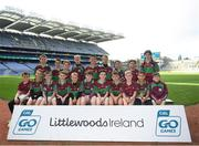 24 September 2019; CLG Eoghan Rua players, Co. Derry, during the Littlewoods Ireland Ulster GAA Go Games Provincial Days' in Croke Park in Dublin. This year over 6,000 boys and girls aged between six and twelve represented their clubs in a series of mini blitzes and – just like their heroes – got to play in Croke Park.  Photo by Harry Murphy/Sportsfile
