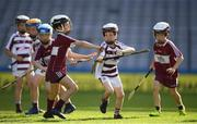24 September 2019; Caolan Whitman, second right, age 11, of Slaughtneil, Co. Derry, during the Littlewoods Ireland Ulster GAA Go Games Provincial Days' in Croke Park in Dublin. This year over 6,000 boys and girls aged between six and twelve represented their clubs in a series of mini blitzes and – just like their heroes – got to play in Croke Park.  Photo by Harry Murphy/Sportsfile