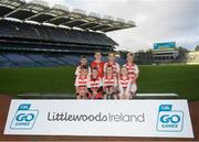 24 September 2019; Ballerin Sarfields GAC  players, Co. Derry, during the Littlewoods Ireland Ulster GAA Go Games Provincial Days' in Croke Park in Dublin. This year over 6,000 boys and girls aged between six and twelve represented their clubs in a series of mini blitzes and – just like their heroes – got to play in Croke Park.  Photo by Harry Murphy/Sportsfile