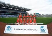24 September 2019; Erins Own Lavey players, Co. Derry,  during the Littlewoods Ireland Ulster GAA Go Games Provincial Days' in Croke Park in Dublin. This year over 6,000 boys and girls aged between six and twelve represented their clubs in a series of mini blitzes and – just like their heroes – got to play in Croke Park.  Photo by Harry Murphy/Sportsfile